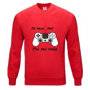 """T-shirt """"Je peux pas, j'ai jeu vidéo"""""""